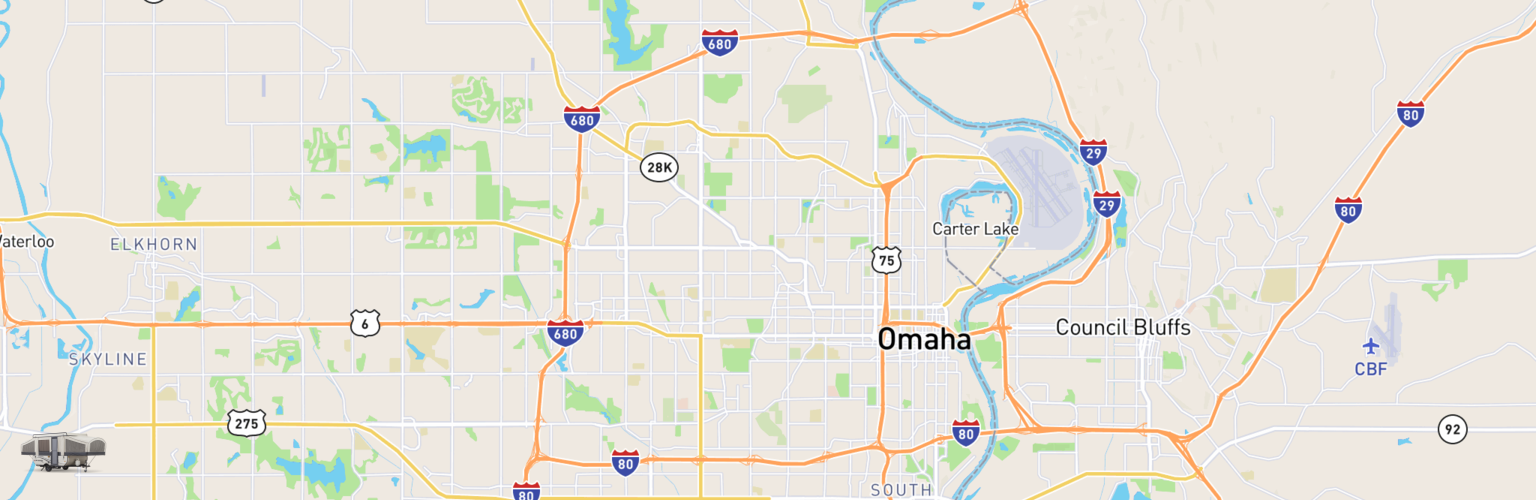 Pop Up Rentals Map Omaha, NE