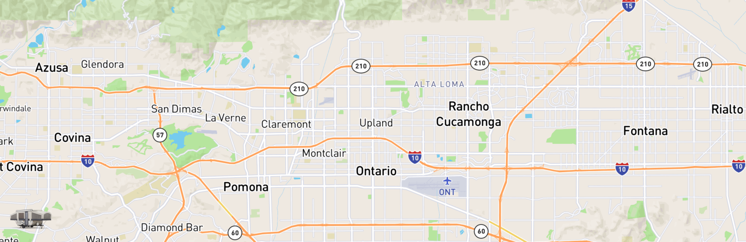 Pop Up Rentals Map Ontario, CA