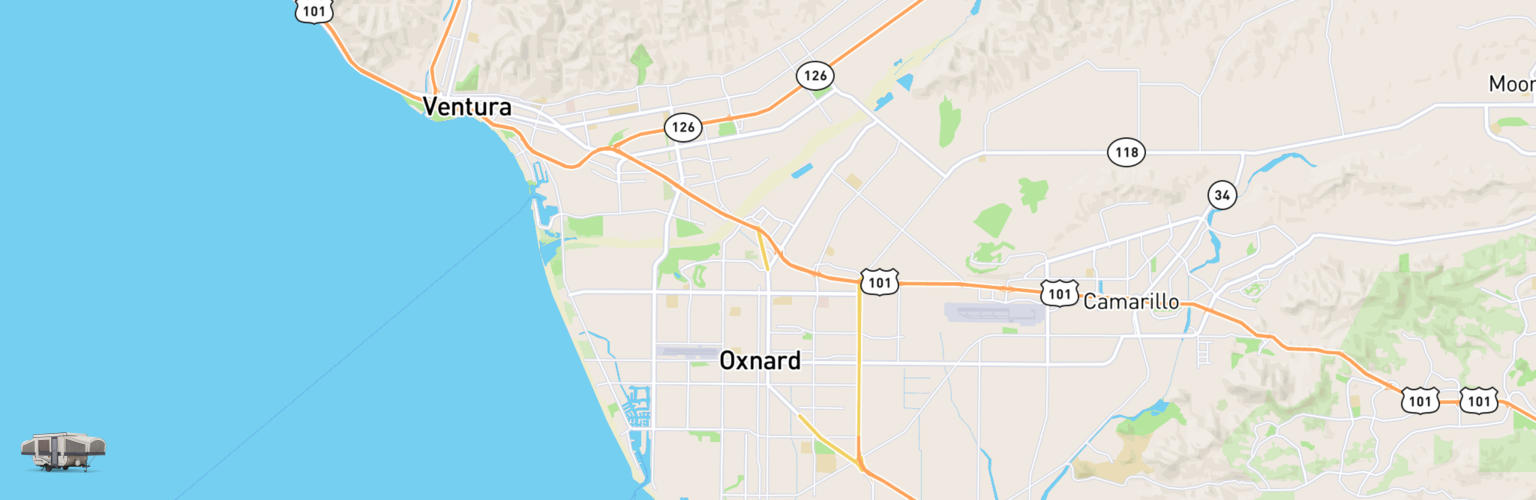 Pop Up Rentals Map Oxnard, CA