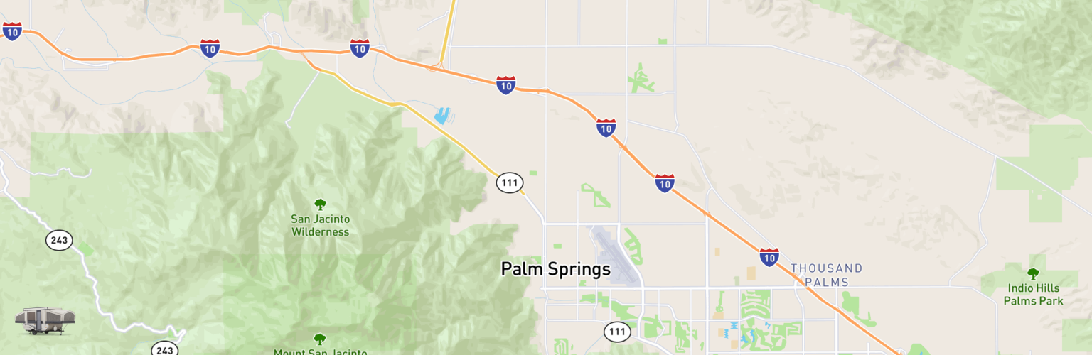 Pop Up Rentals Map Palm Springs, CA