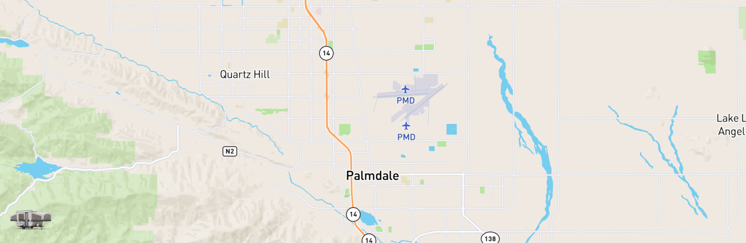 Pop Up Rentals Map Palmdale, CA
