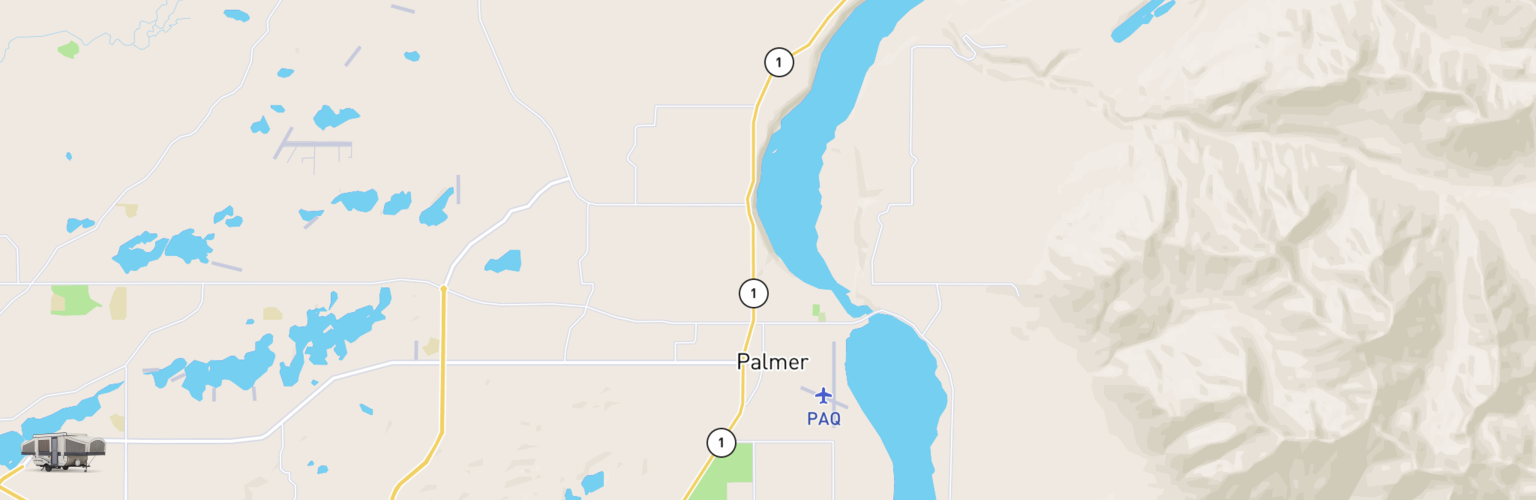 Pop Up Rentals Map Palmer, AK