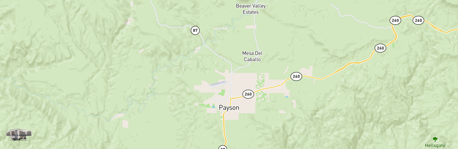 Pop Up Rentals Map Payson, AZ