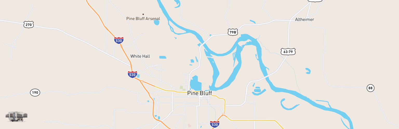 Pop Up Rentals Map Pine Bluff, AR