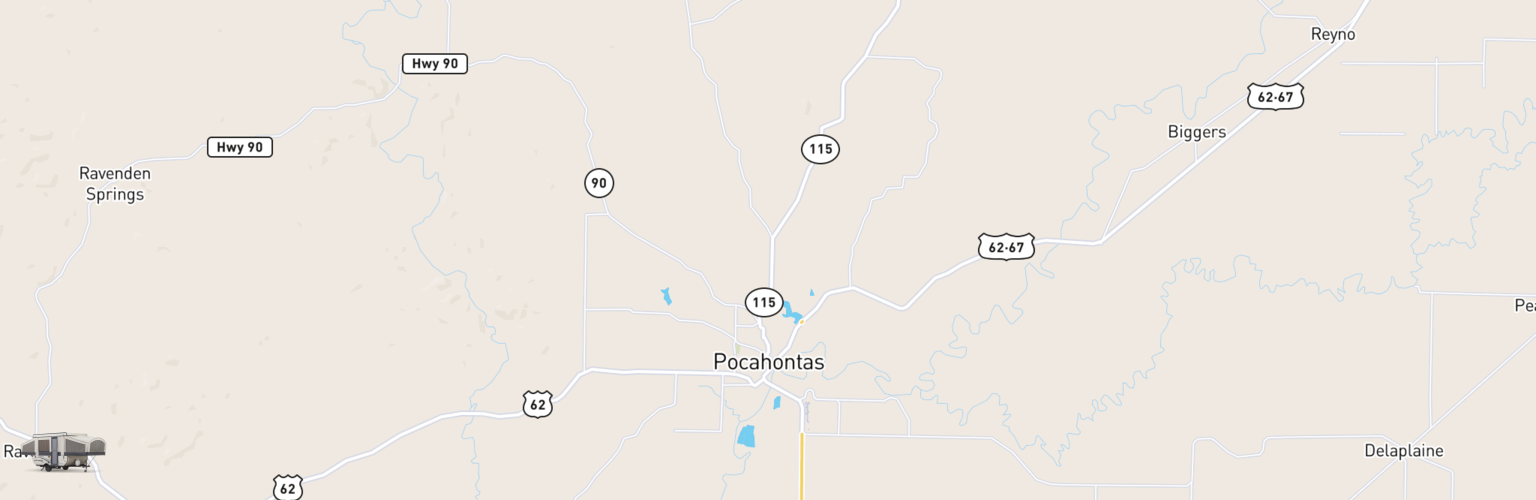 Pop Up Rentals Map Pocahontas, AR