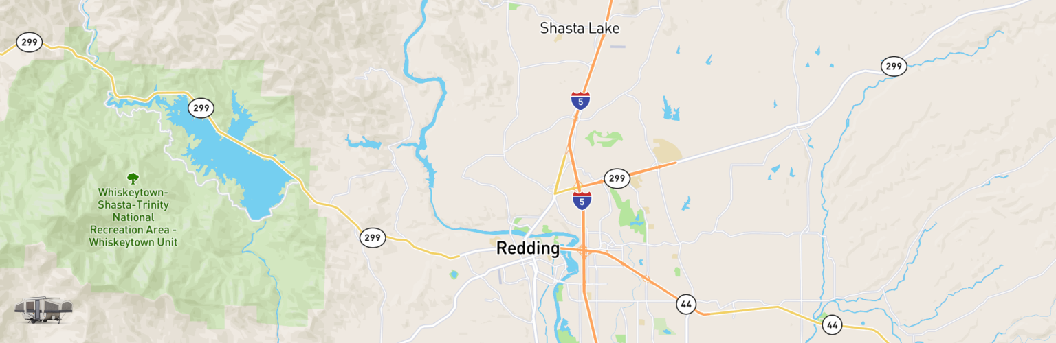 Pop Up Rentals Map Redding, CA