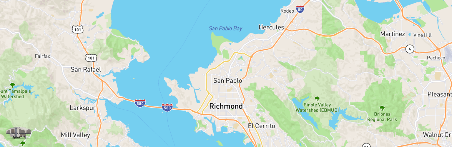 Pop Up Rentals Map Richmond, CA