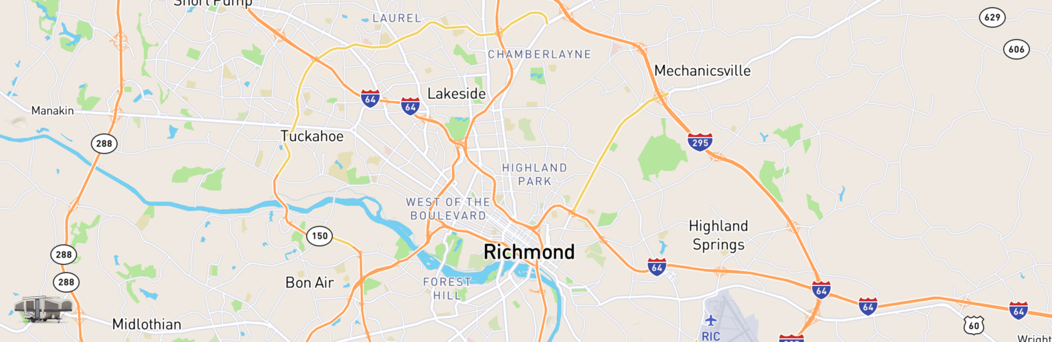 Pop Up Rentals Map Richmond, VA