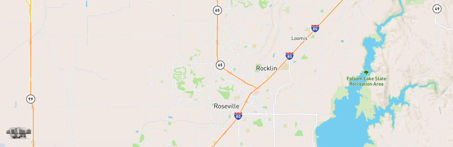 Pop Up Rentals Map Roseville, CA
