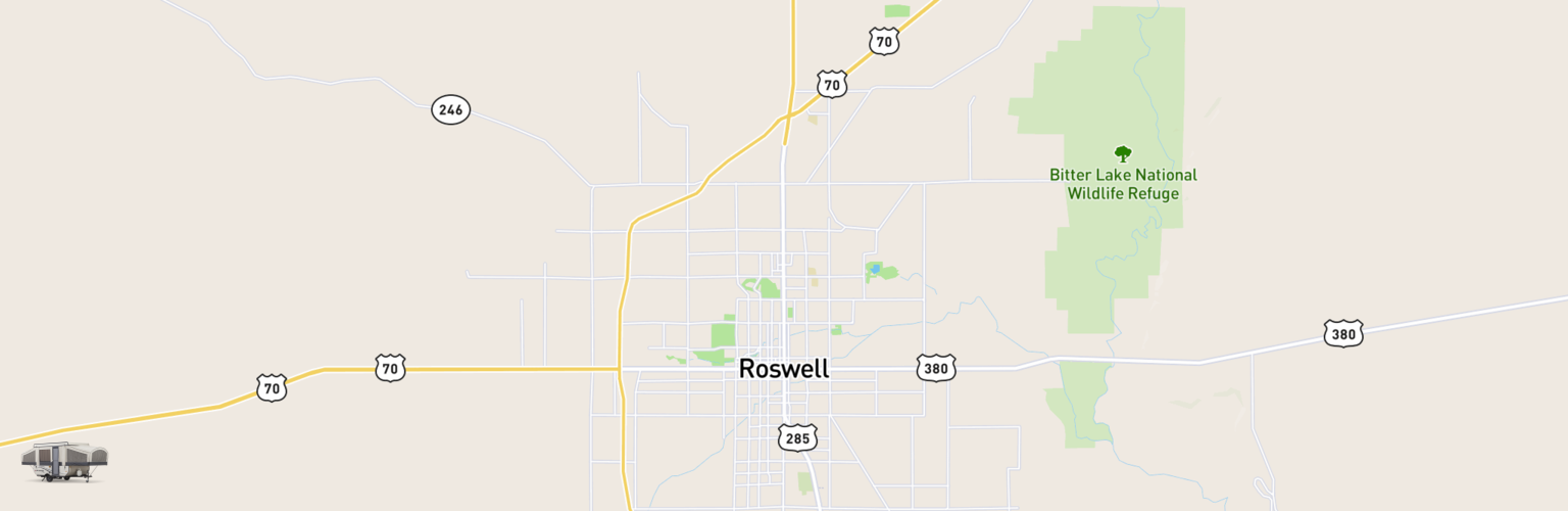 Pop Up Rentals Map Roswell, NM