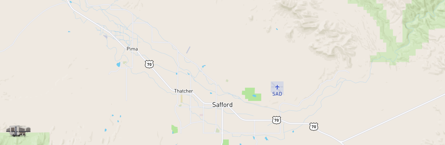 Pop Up Rentals Map Safford, AZ