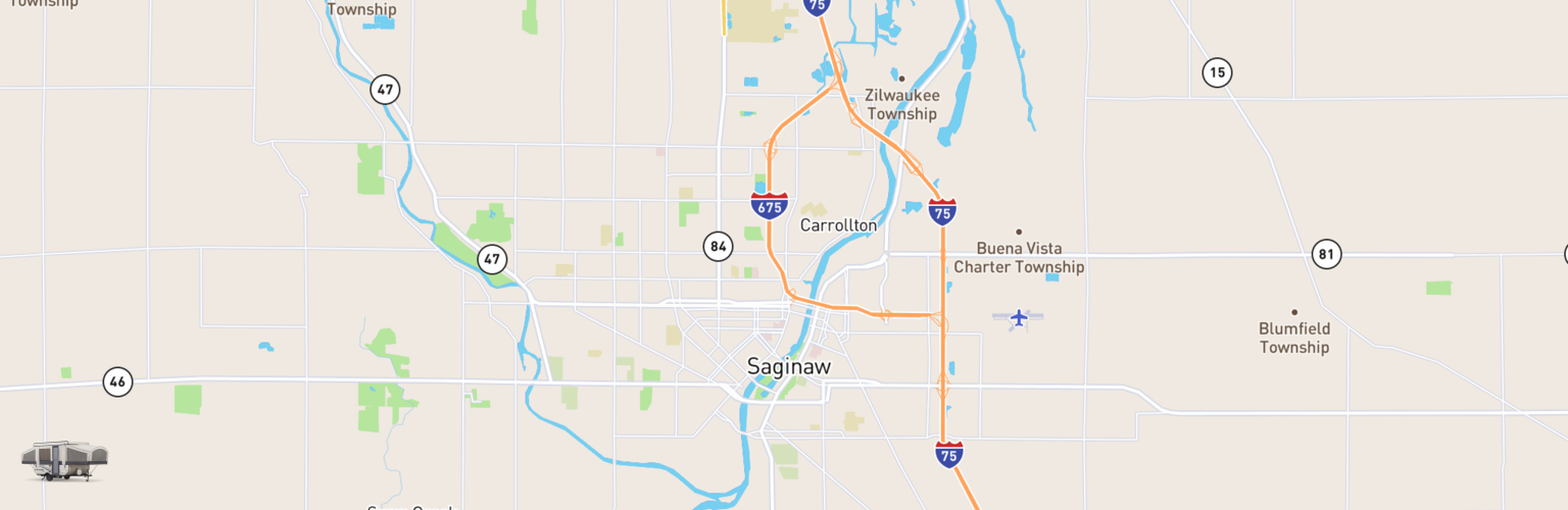 Pop Up Rentals Map Saginaw, MI