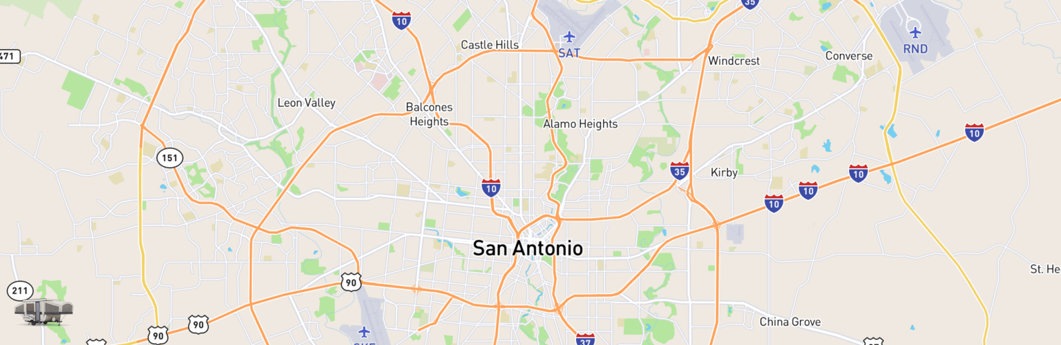 Pop Up Rentals Map San Antonio, TX