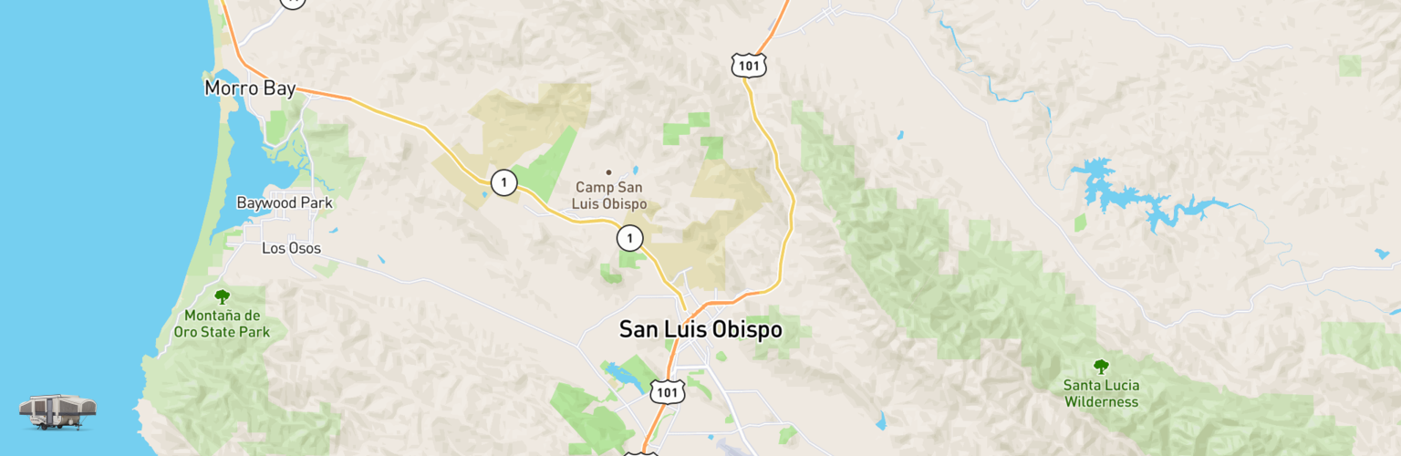 Pop Up Rentals Map San Luis Obispo, CA