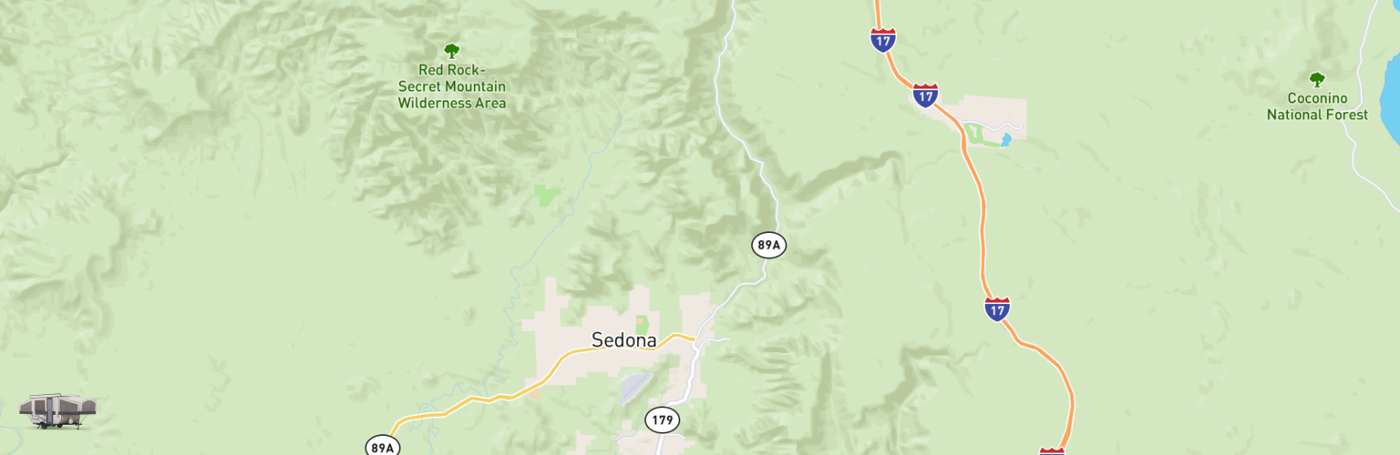 Pop Up Rentals Map Sedona, AZ