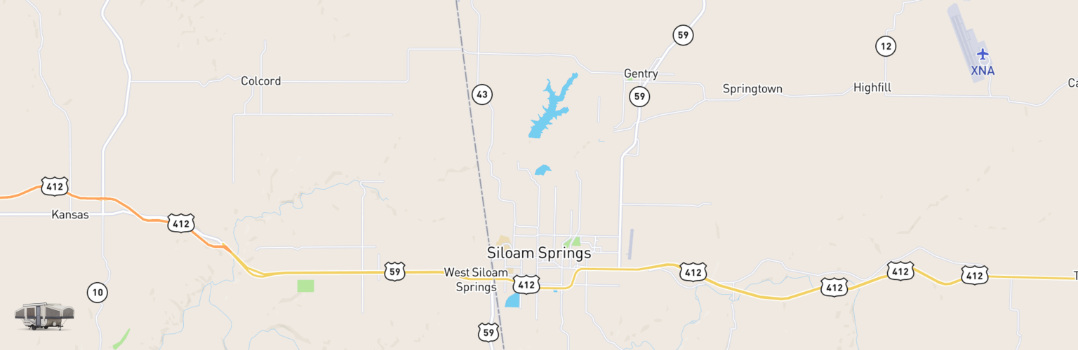 Pop Up Rentals Map Siloam Springs, AR