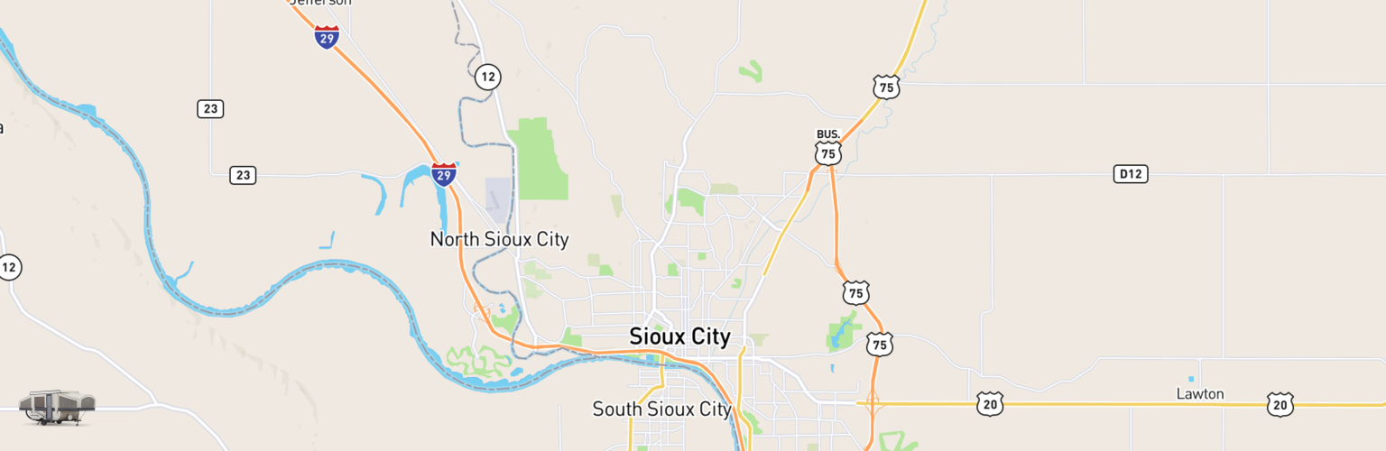 Pop Up Rentals Map Sioux City, IA