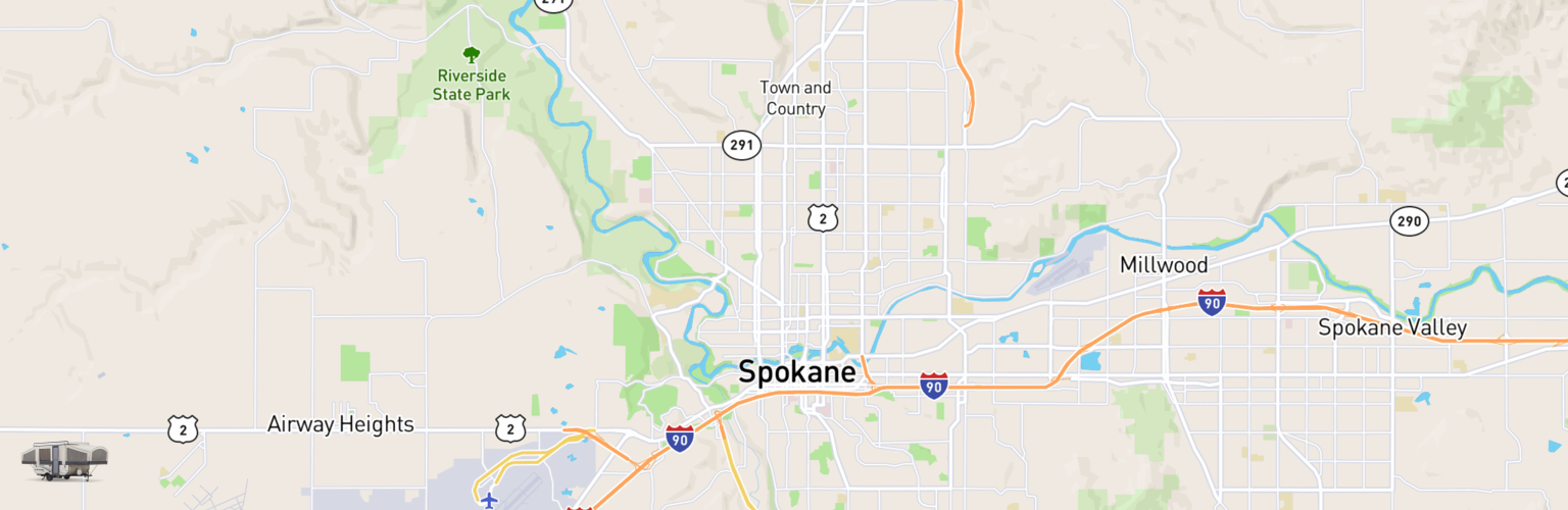 Pop Up Rentals Map Spokane, WA