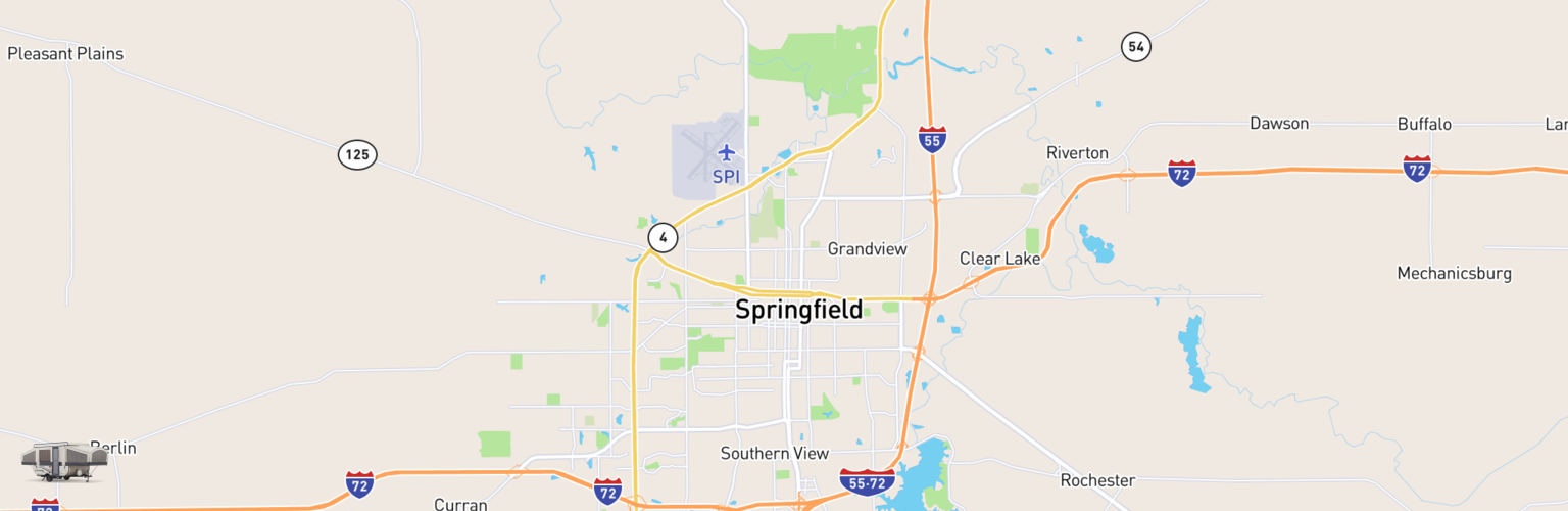Pop Up Rentals Map Springfield, IL