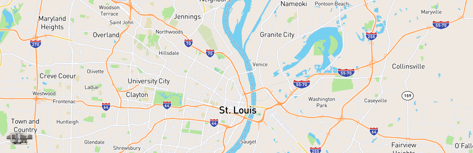 Pop Up Rentals Map St Louis, MO