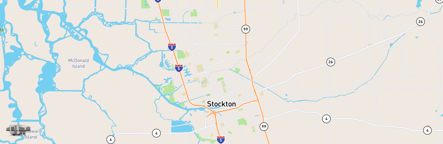 Pop Up Rentals Map Stockton, CA