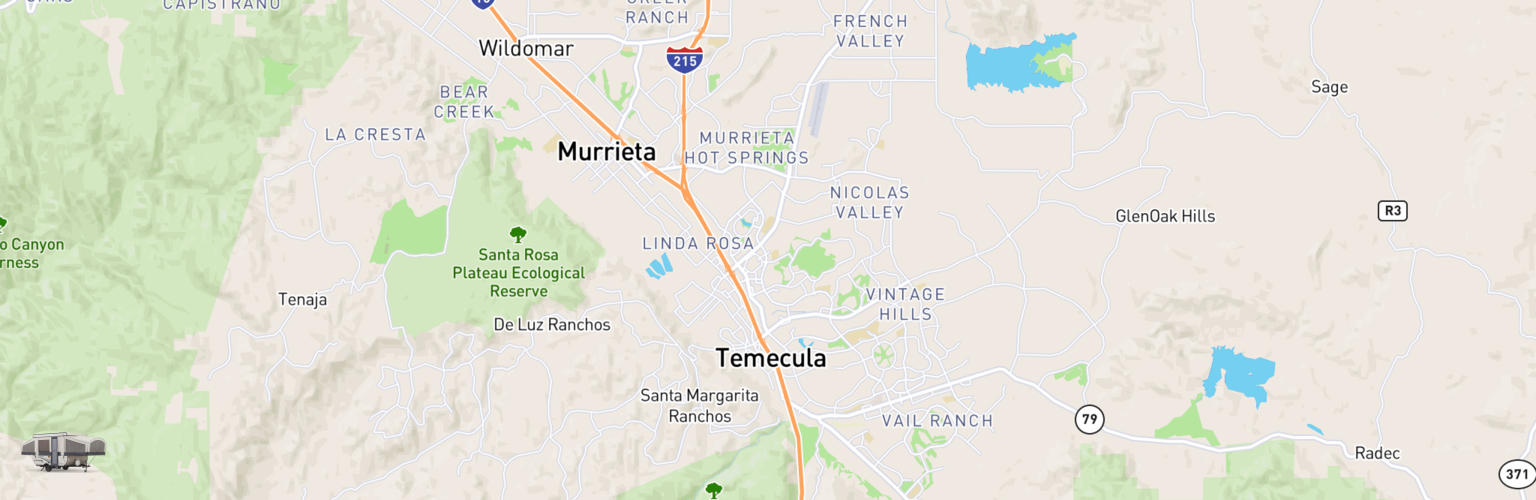 Pop Up Rentals Map Temecula, CA
