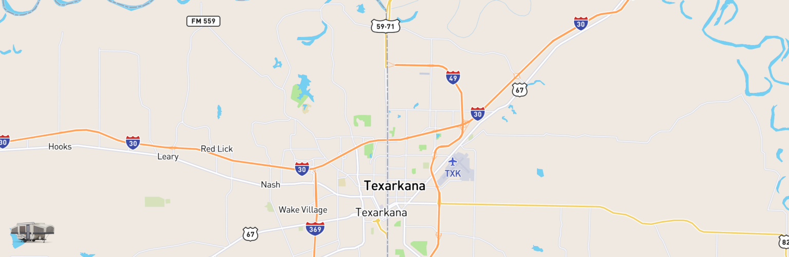Pop Up Rentals Map Texarkana, AR