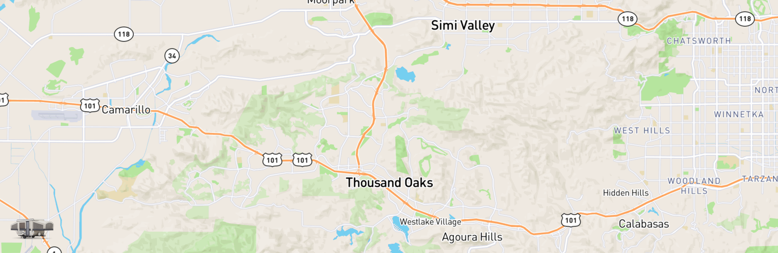Pop Up Rentals Map Thousand Oaks, CA