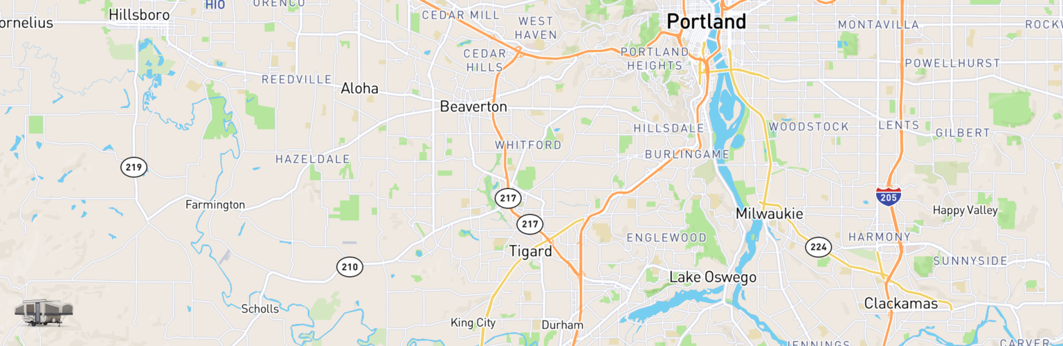 Pop Up Rentals Map Tigard, OR