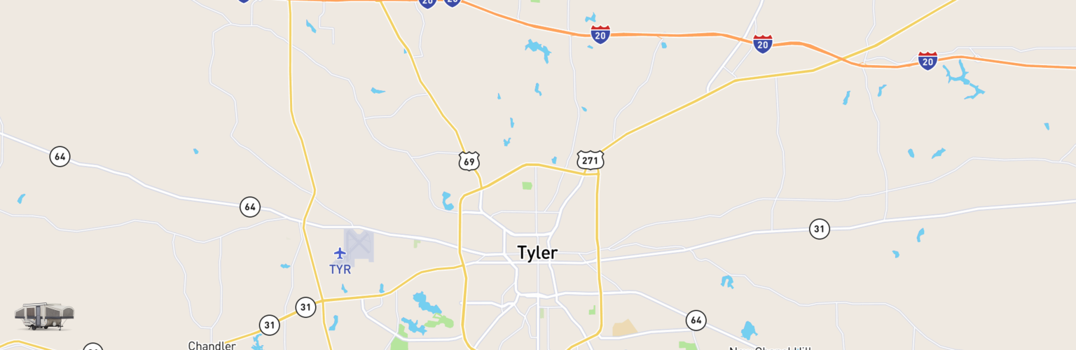 Pop Up Rentals Map Tyler, TX