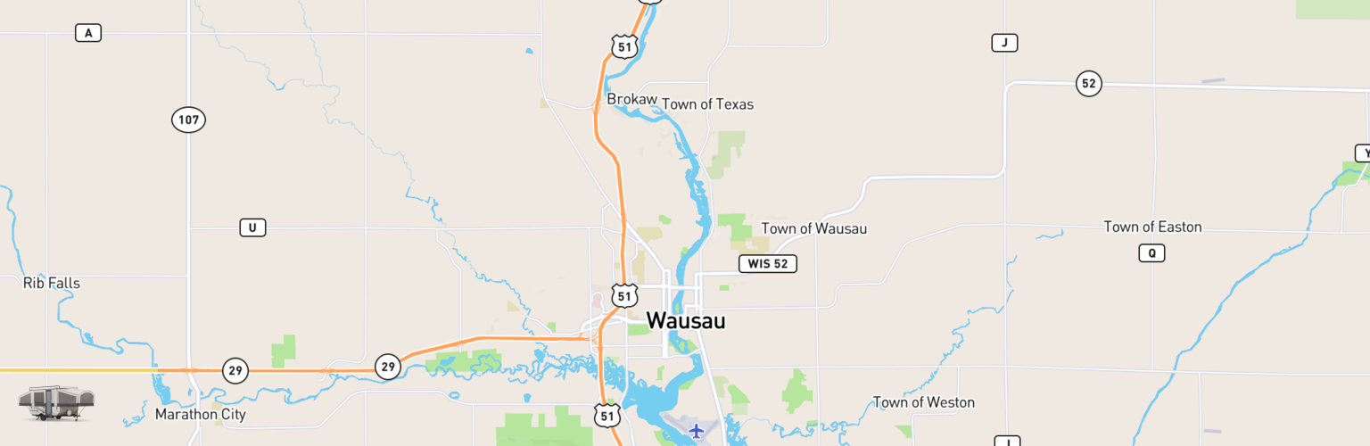 Pop Up Rentals Map Wausau, WI