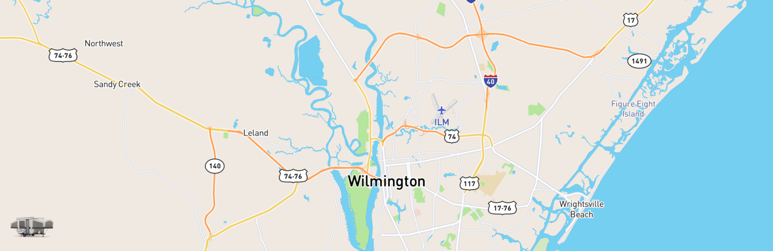 Pop Up Rentals Map Wilmington, NC