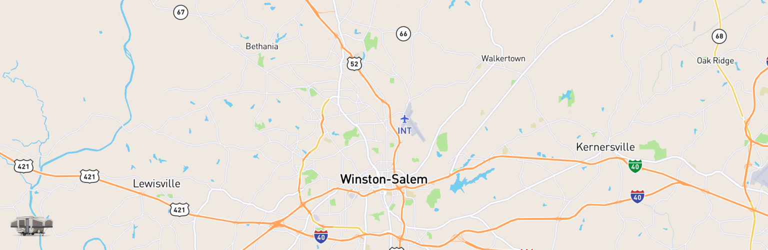 Pop Up Rentals Map Winston Salem, NC