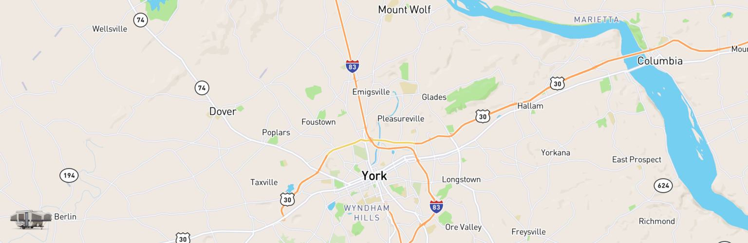 Pop Up Rentals Map York, PA