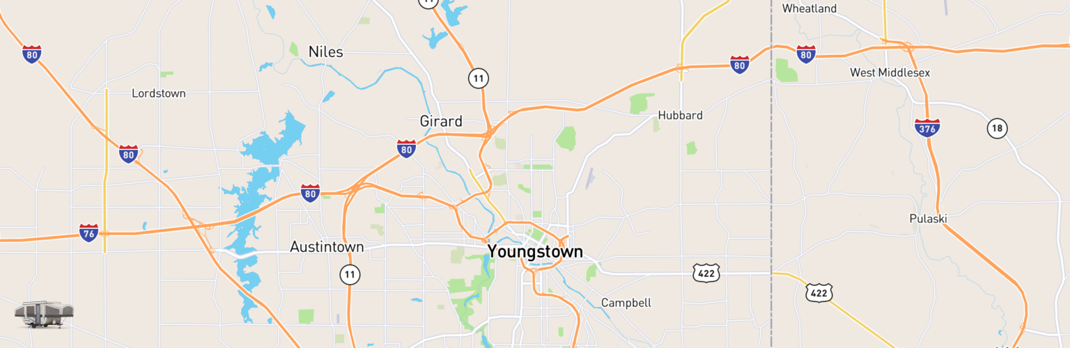 Pop Up Rentals Map Youngstown, OH