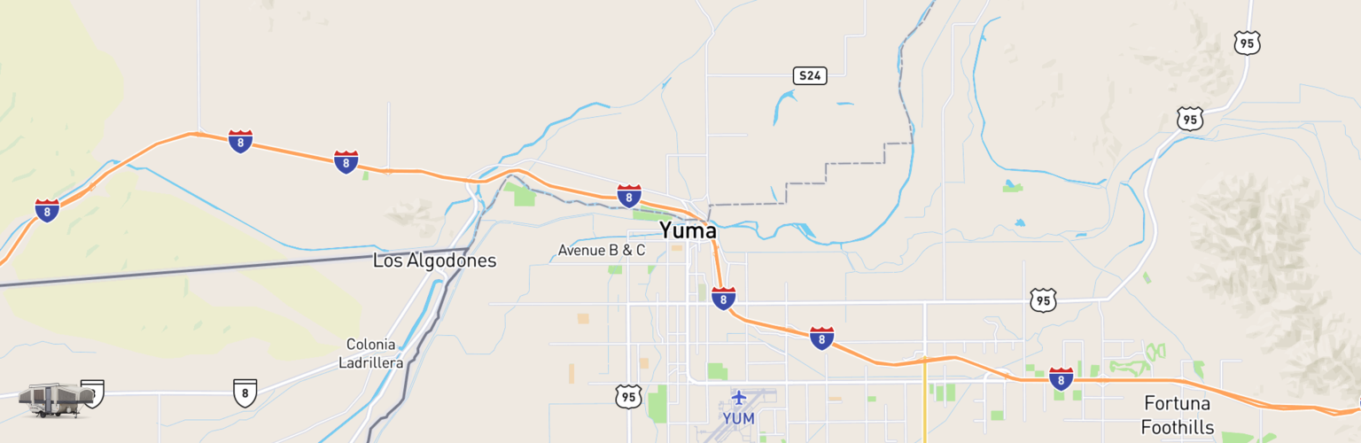 Pop Up Rentals Map Yuma, AZ