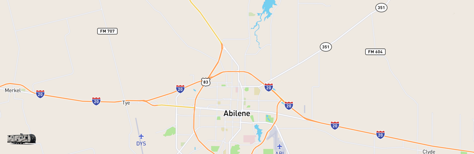 Travel Trailer Rentals Map Abilene, TX