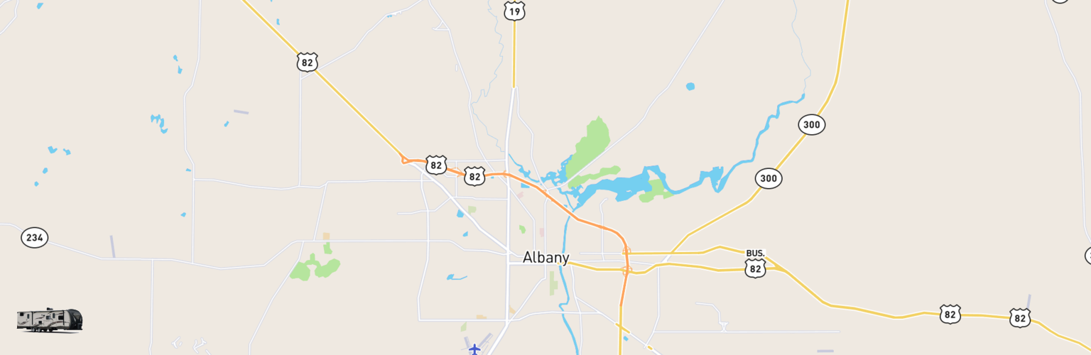 Travel Trailer Rentals Map Albany, GA