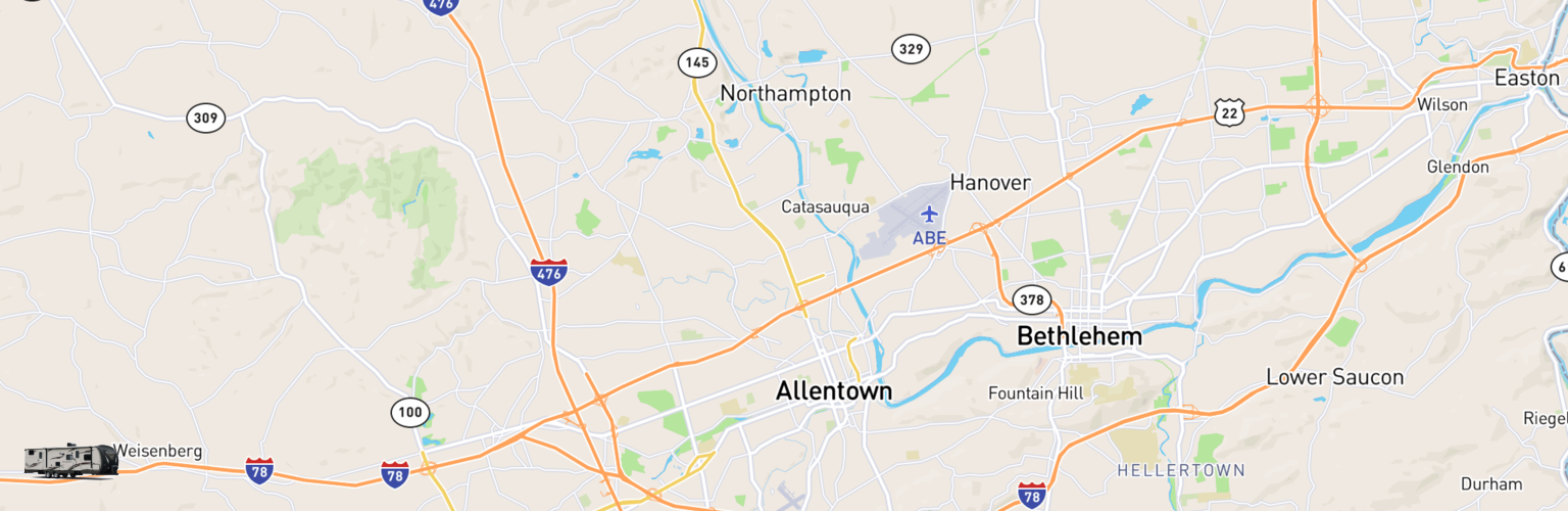 Travel Trailer Rentals Map Allentown, PA