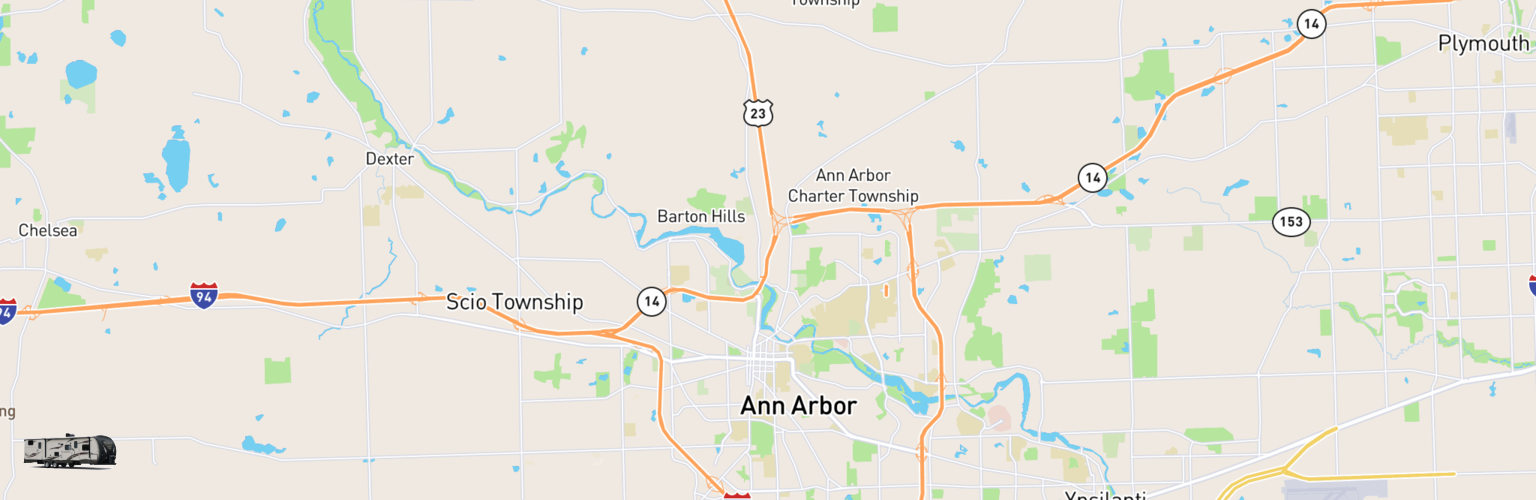 Travel Trailer Rentals Map Ann Arbor, MI
