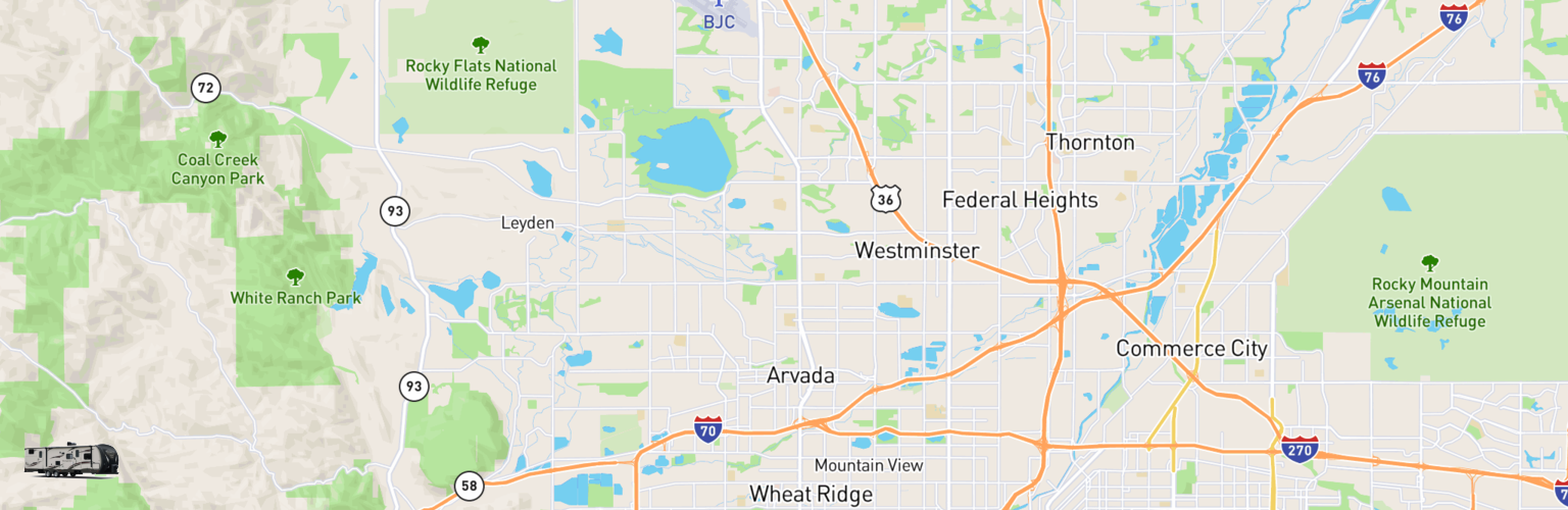 Travel Trailer Rentals Map Arvada, CO