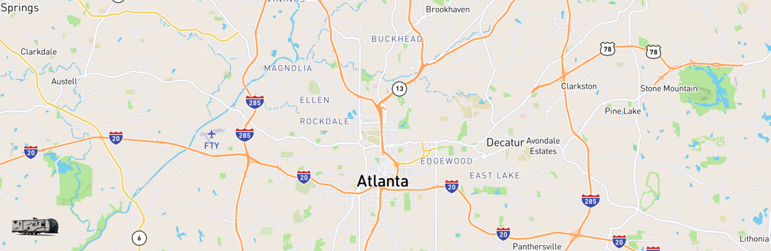 Travel Trailer Rentals Map Atlanta, GA