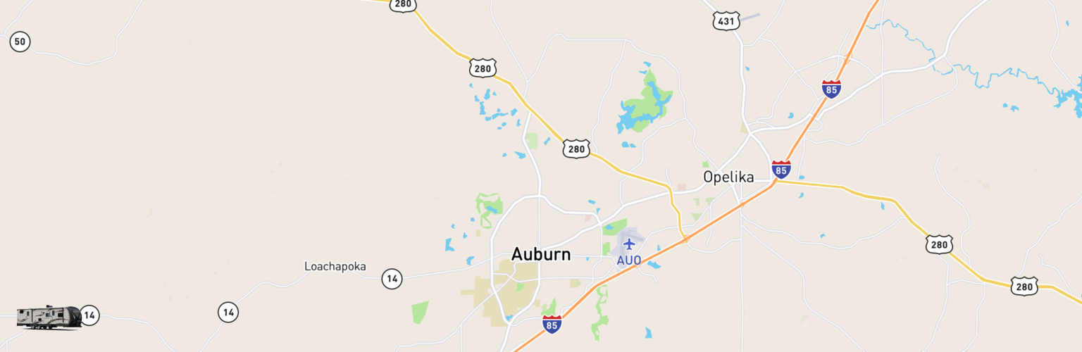 Travel Trailer Rentals Map Auburn, AL