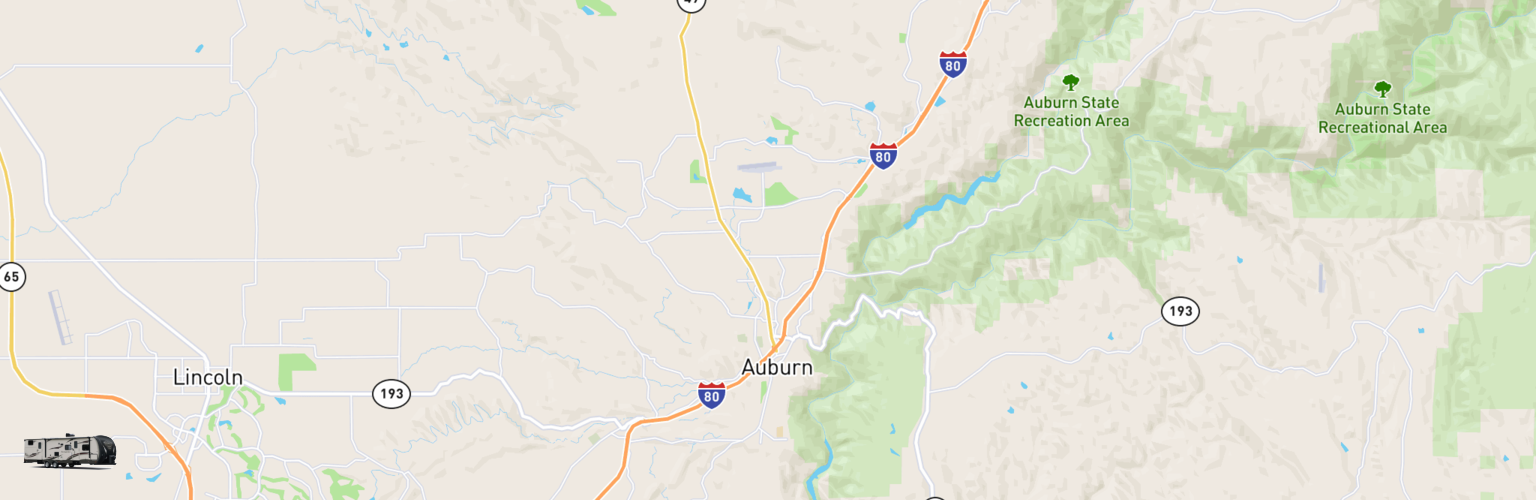Travel Trailer Rentals Map Auburn, CA