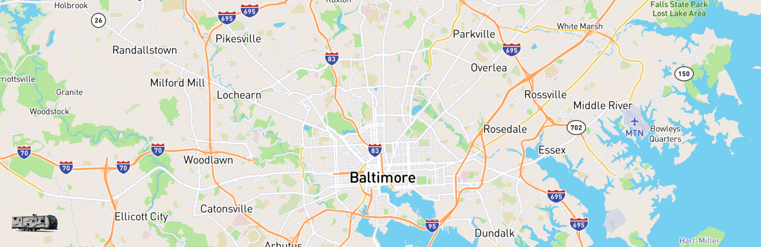 Travel Trailer Rentals Map Baltimore, MD