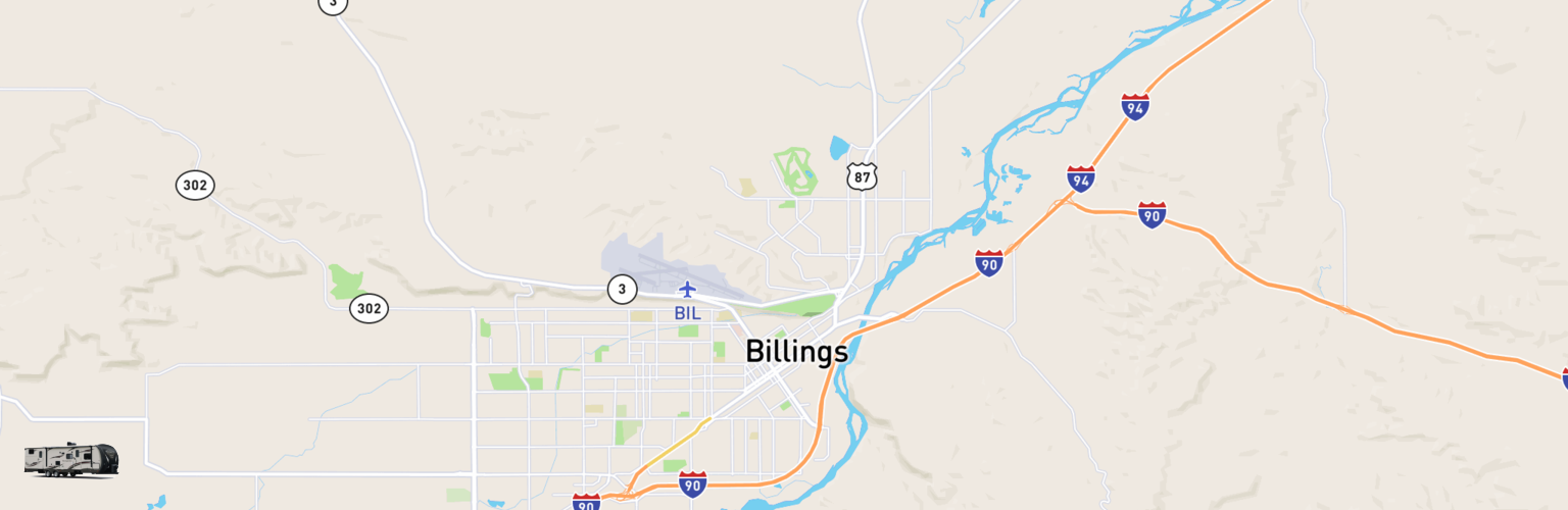Travel Trailer Rentals Map Billings, MT