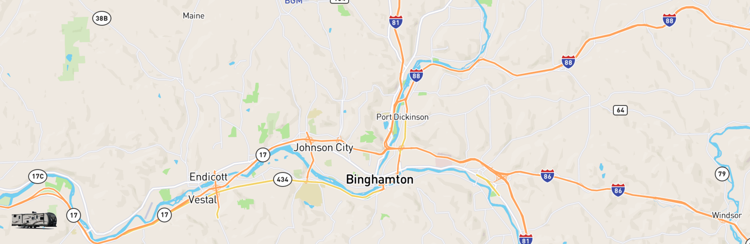 Travel Trailer Rentals Map Binghamton, NY