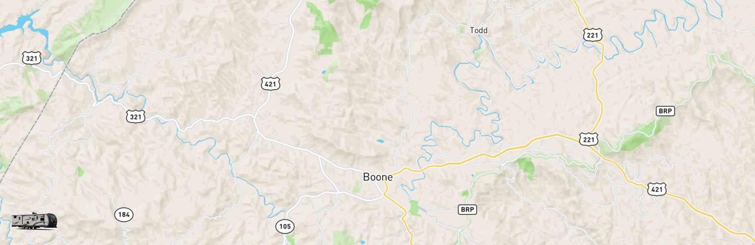 Travel Trailer Rentals Map Boone, NC