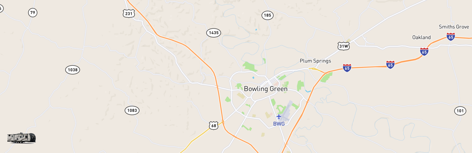 Travel Trailer Rentals Map Bowling Green, KY