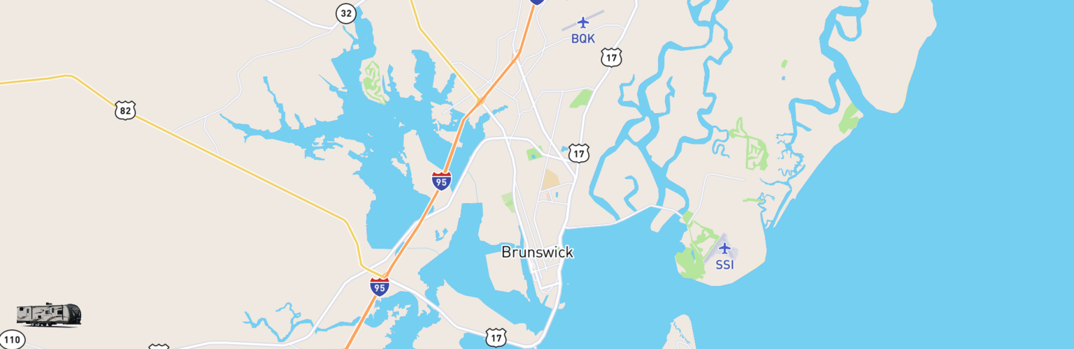 Travel Trailer Rentals Map Brunswick, GA